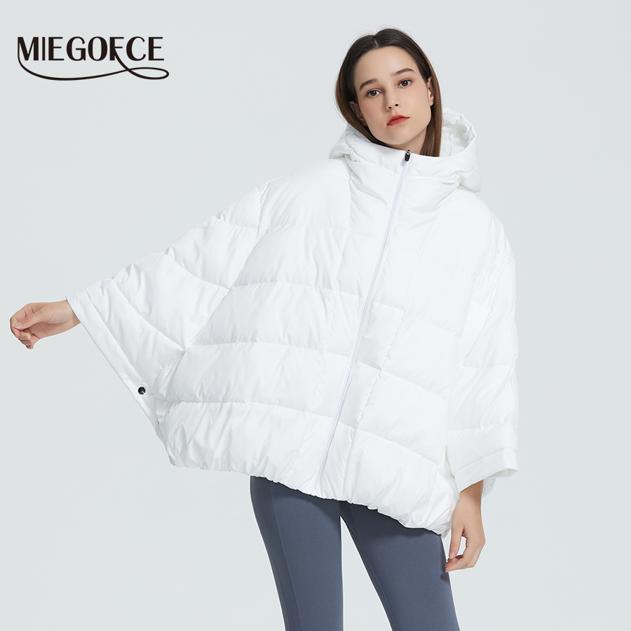 MIEGOFCE 2019 New Winter Women's Jacket High Quality Bright Colors Sintepon Insulated Puffy Coat Resistant Collar Hooded Parka