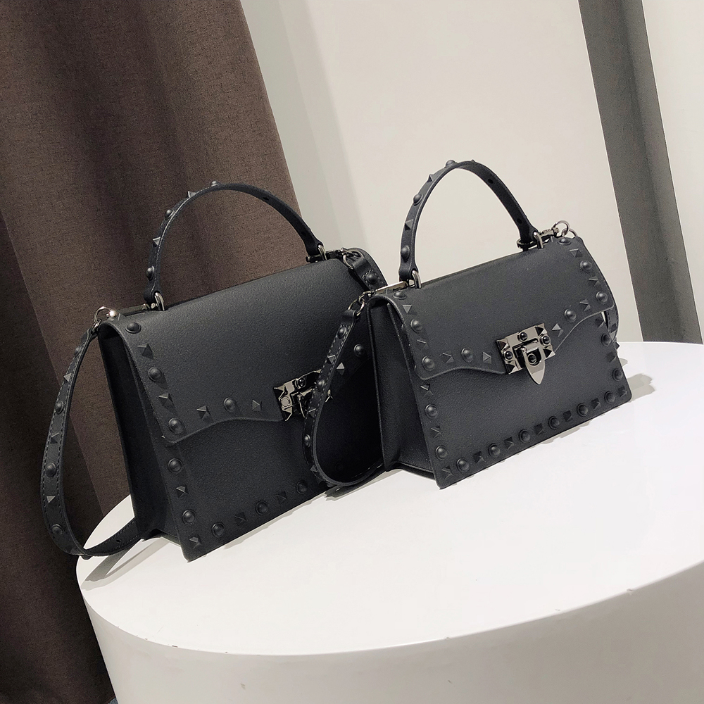Jelly Bags For Women Solid Flap Fashion Messenger Bag Rivet Women Shoulder Bag Small Big Lady Handbags High Quality Bags Women's