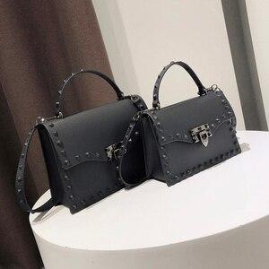 Jelly Bags For Women Solid Flap Fashion Messenger Bag Rivet Women Shoulder Bag Small Big Lady Handbags High Quality Bags Women's(China)