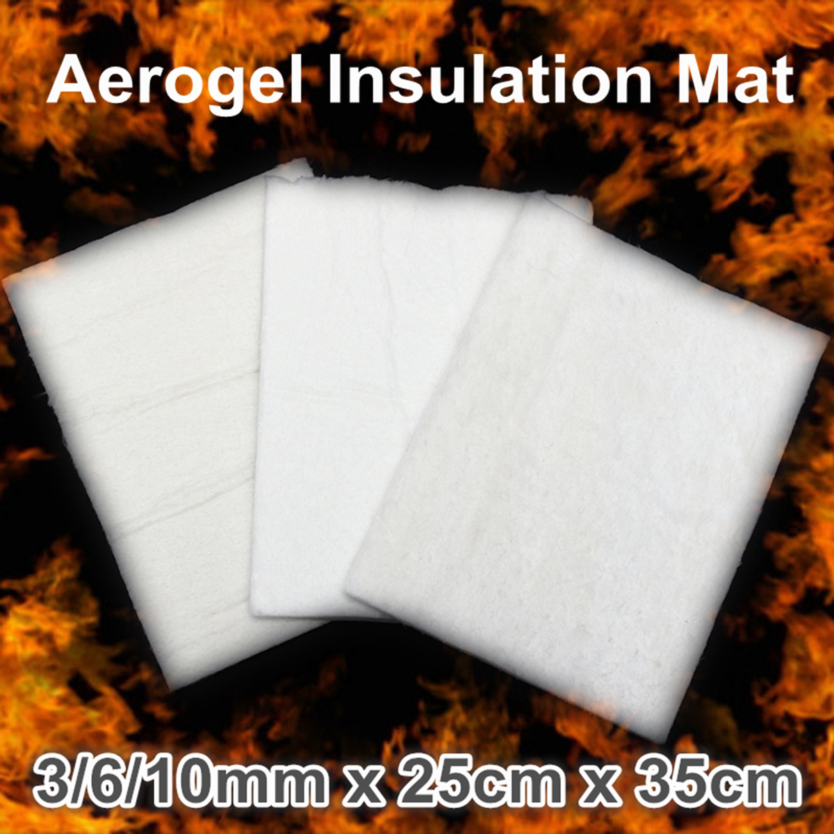 3/6/10mm Thickness Super Light Silica Aerogel Insulation Mat Lightest Solid Pad For Industrial Pipelines Storage Tanks 25x35cm