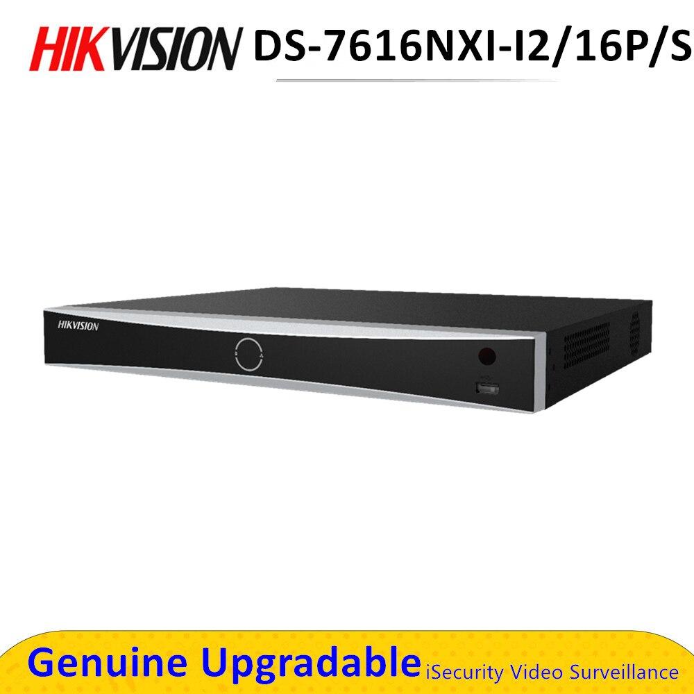 Hik Acusense – POE NVR 16ch DS-7616NXI-I2/16 P/S, reconnaissance faciale, point de vente Intelligent, analyse H.265 +