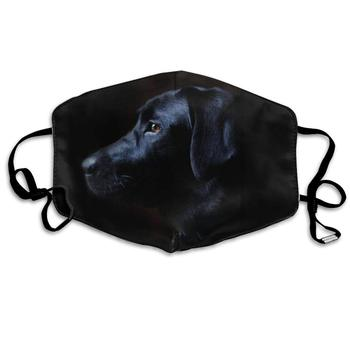 Mouth Mask for Daily Dress Up, Black Labrador Dog Anti-dust Mouth-Muffle, Washable Reusable Holiday Half Face Masks for Mens and