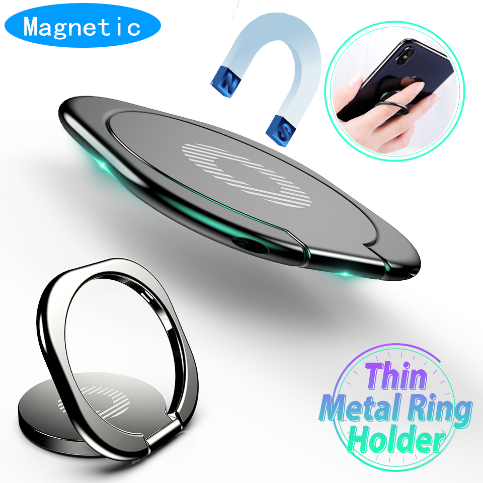 Magnetic Mini Dashboard Car Holder Ring Phone Mobile Holder Universal For IPhone Samsung Oneplus 7 Pro Car Bracket Stand Support
