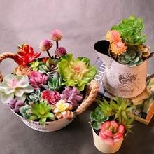 Искусственные влагозапасающие растения, настоящий пейзаж, трава лотоса, Декоративные искусственные растения для дома и сада, украшения для рождественской вечеринки