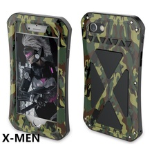 R-JUST X-MEN Full Body Case For iPhone 6 6S 7 Outdoor Shockproof Metal Armor Cover For iPhone 7 6S 6 Plus Cases Gorilla Glass стоимость