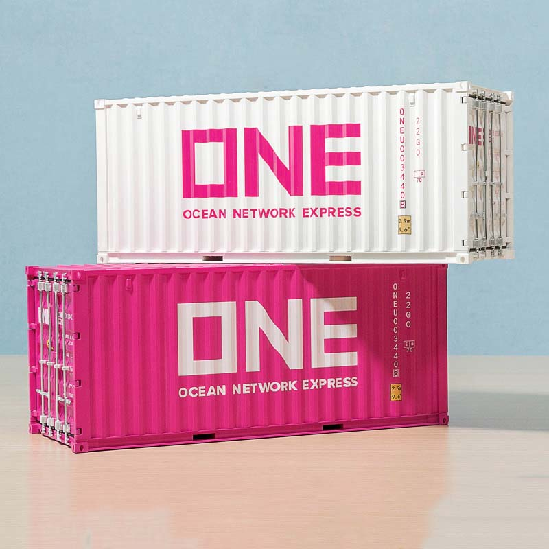 1/20 Scale truck accessories container box model toy diecast simulation shipping ONE container model ornament storage Box show