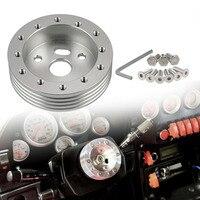 Carro prata roda de direção hub adaptador espaçador kit ajuste momo grant nardi 6 buraco hub