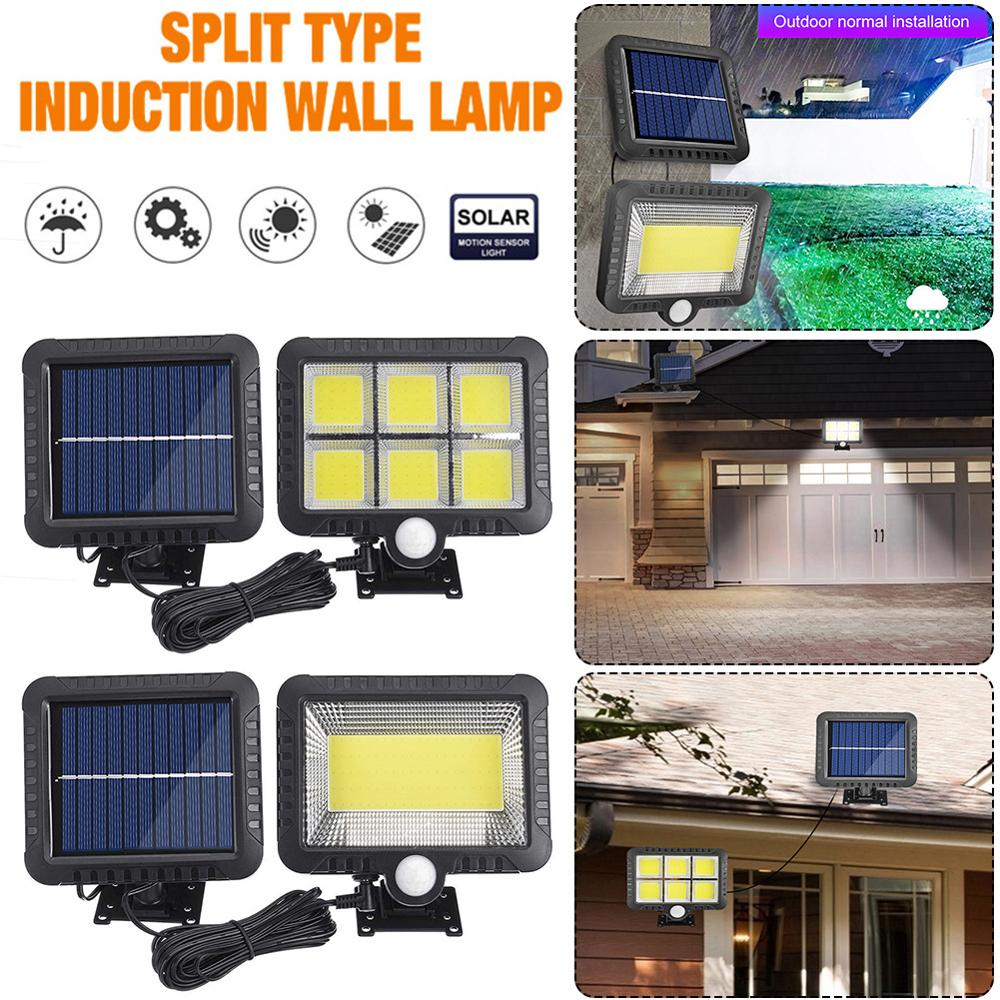 COB 120LED Solar Motion Sensor Wall Light Outdoor Waterproof Garden Lamp Support Dropshipping