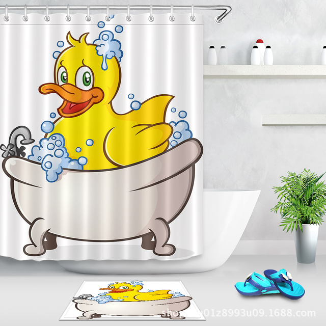 Duckling taking a sh