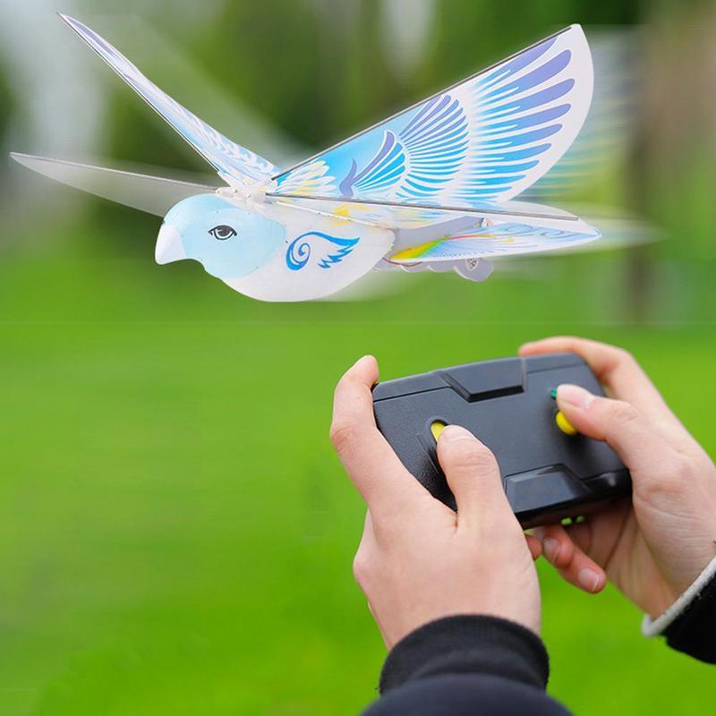 360 Graus de Vôo RC Pássaro Brinquedo de Controle Remoto de 2.4 Ghz E-pássaro Pássaros Voando Brinquedos Eletrônicos Mini Rc Zangão helicóptero 235x275x70mm