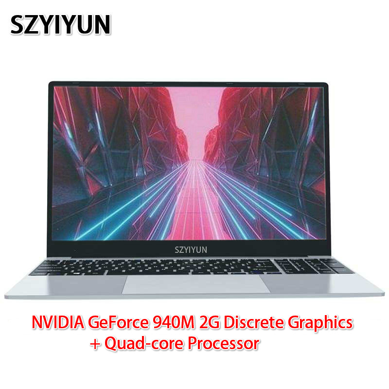 J3455 Intel Laptop 8G NVIDIA GeForce 940M 2G Discrete Graphics Quad-core Processor Ultra-thin Netbook Business Portable Notebook