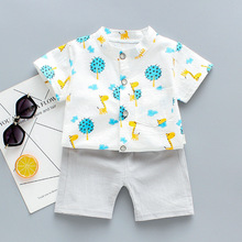 Kids Boys Clothing Sets New Summer Baby Fashion Cartoon Clothes Cute Outfits Casual Boy Suit Children Clothes 1 4Y 2019 new christmas outfits babys outfits kids clothing santa clause suit long sleeve cute fashion toddle