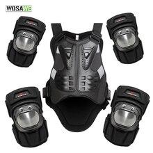WOSAWE куртка для сноуборда светоотражающий жилет груди локтя защита колена для верховой езды Мотокросс гоночный жилет и защита для коленей и локтей
