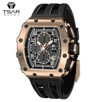 Orologio da uomo TSAR BOMBA 50M orologio da polso di lusso impermeabile cronografo in acciaio inossidabile 316L elegante orologio da uomo elegante regalo maschile