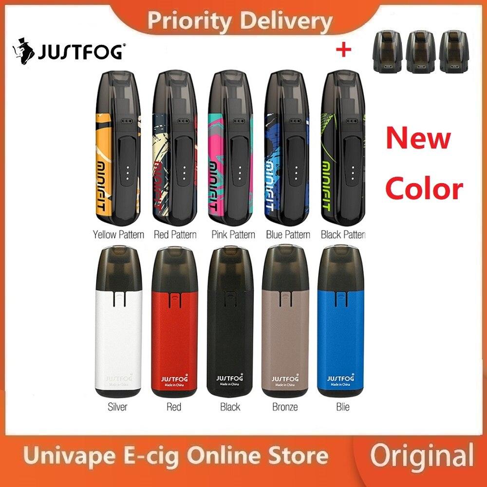 Nowe Kolory Zestaw JUSTFOG MINIFIT Pod Zestaw Do E-papierosa W/370 MAh Baterii I 1.5ml Wkład System Pod Pod Zestaw Do E-papierosa Vs Przeciągnij Nano/Kubi