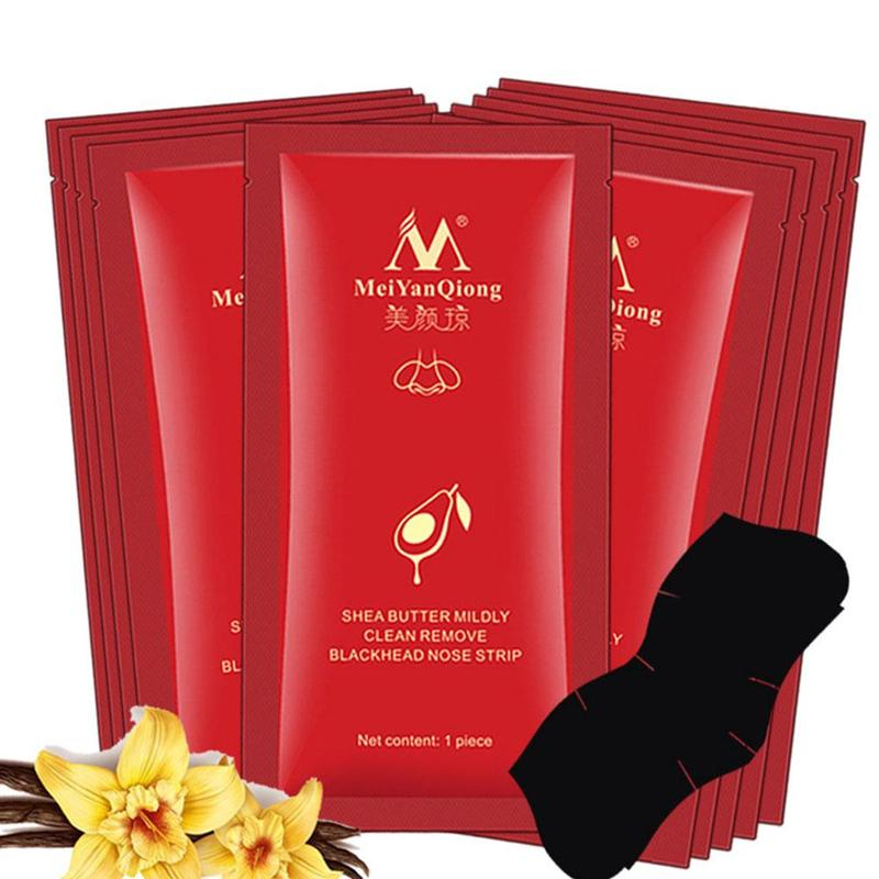 10PCS Face Cleansing Blackhead Remover Nose Mask Shrink Pores Black Mask Peel Acne Treatment Nose Patches Skin Care Strips Mask