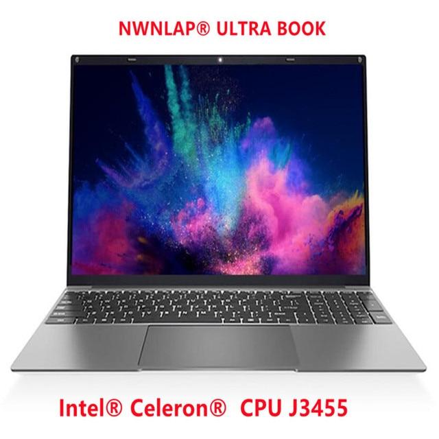 NWNLAP Laptop 14.1 inch Intel J3455 Quad core 8GB 256GB SSD 7mm Thickness 5mm Narrow Bezel Backlit Notebook 5