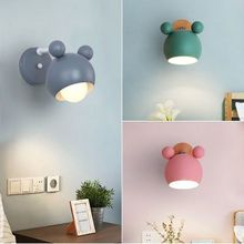 Personality creative simple macaron bedside lamp children's room LED wall lamp bedroom study kitchen hotel decorative wall lamp