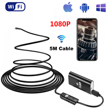 8mm 1080P Endoscope WIFI IP68 Waterproof Snake Borescope Inspection Snake Camera 8 LED Light for IOS Samsung Huawei Android