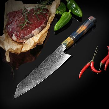 LUOKESI Damascus steel VG10 household kitchen knife sushi sashimi cooking knife vegetable cutting meat cleaver