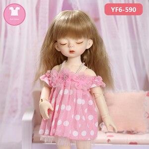 Image 3 - 1/6 BJD SD Одежда для куклы, розовая или белая Фотосессия и черные джинсы, милые аксессуары для кукол Yosd Body