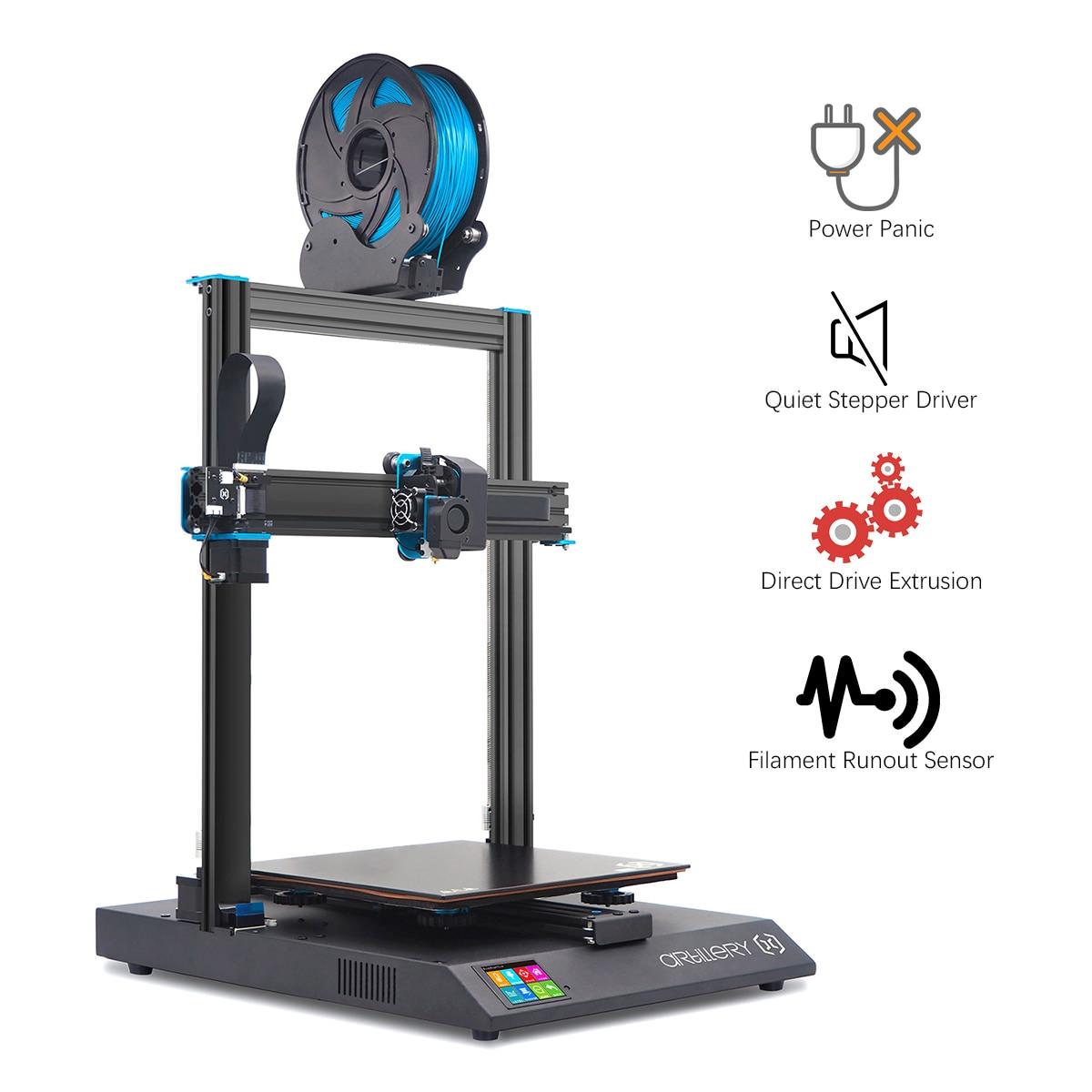 Artillery Sidewinder-X1 Multi-function 3D Printer with Aluminum Extrusion Frame & Filament Runout Sensor