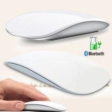 Bluetooth sem fio arco toque mouse mágico ergonômico ultra fino recarregável rato óptico 1600 dpi para apple macbook mice