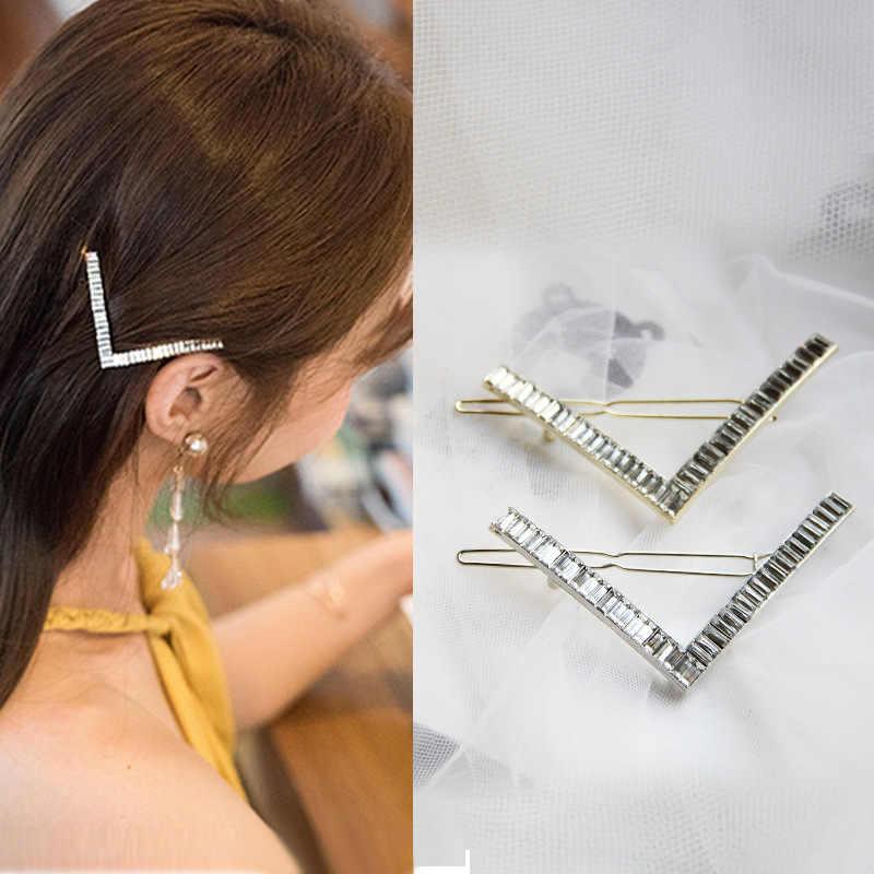 Fashion Star Side Clips Women Rhinestone Hair Clips Barrette Headwear Ornament