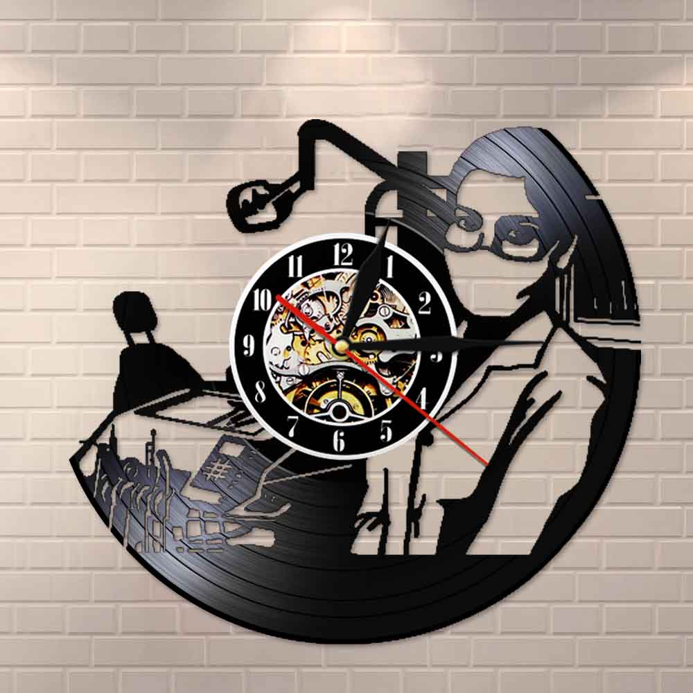 Dentist Vinyl Record Wall Clock Dentistry Office Wall Art Decoration Dental Surgeon Graduation Retirement Gift for Fans Dentist(China)