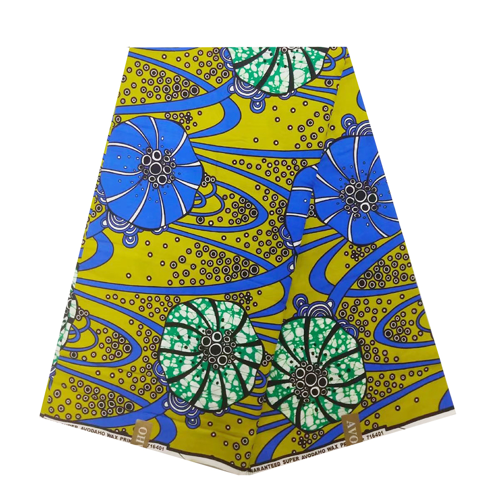 Veritable Guaranteed Real Dutch Wax 100% Cotton Prints High Quality Pagne Veritable African Ankara Sewing Fabric