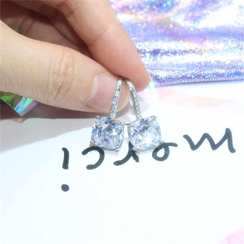 2019 Japan และ South Korea แฟชั่นเครื่องประดับ Luxury Square zircon ต่างหูงานแต่งงาน PARTY ต่างหูสำหรับสาวของขวัญผู้หญิง