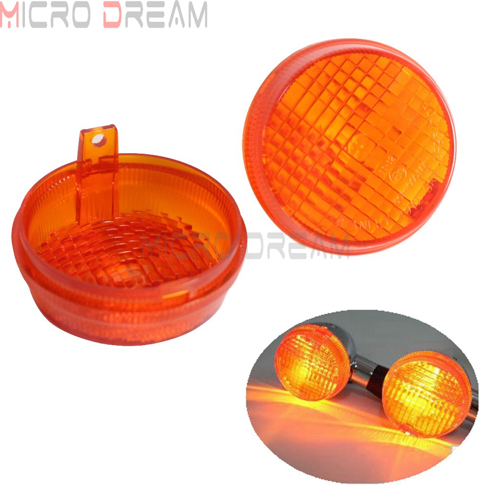 2pcs Motorcycle Turn Signal Lens ABS Indicators Light Covers For Kawasaki Vulcan 1600 Classic / Nomad Honda Cruisers Shadow ACE
