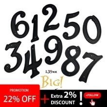 лучшая цена Big House Number 139mm Height Door Address Number Digits ABS Plastic Black House Door Address Sign 5-1/2 inch. #0-9