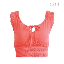 New Sexy Ring Tank Top Women Summer Fashion Wild Halter Top Off Shoulder Backless Short Out Crop Tops Camis for Female fashion off shoulder halter stripe pattern crop top