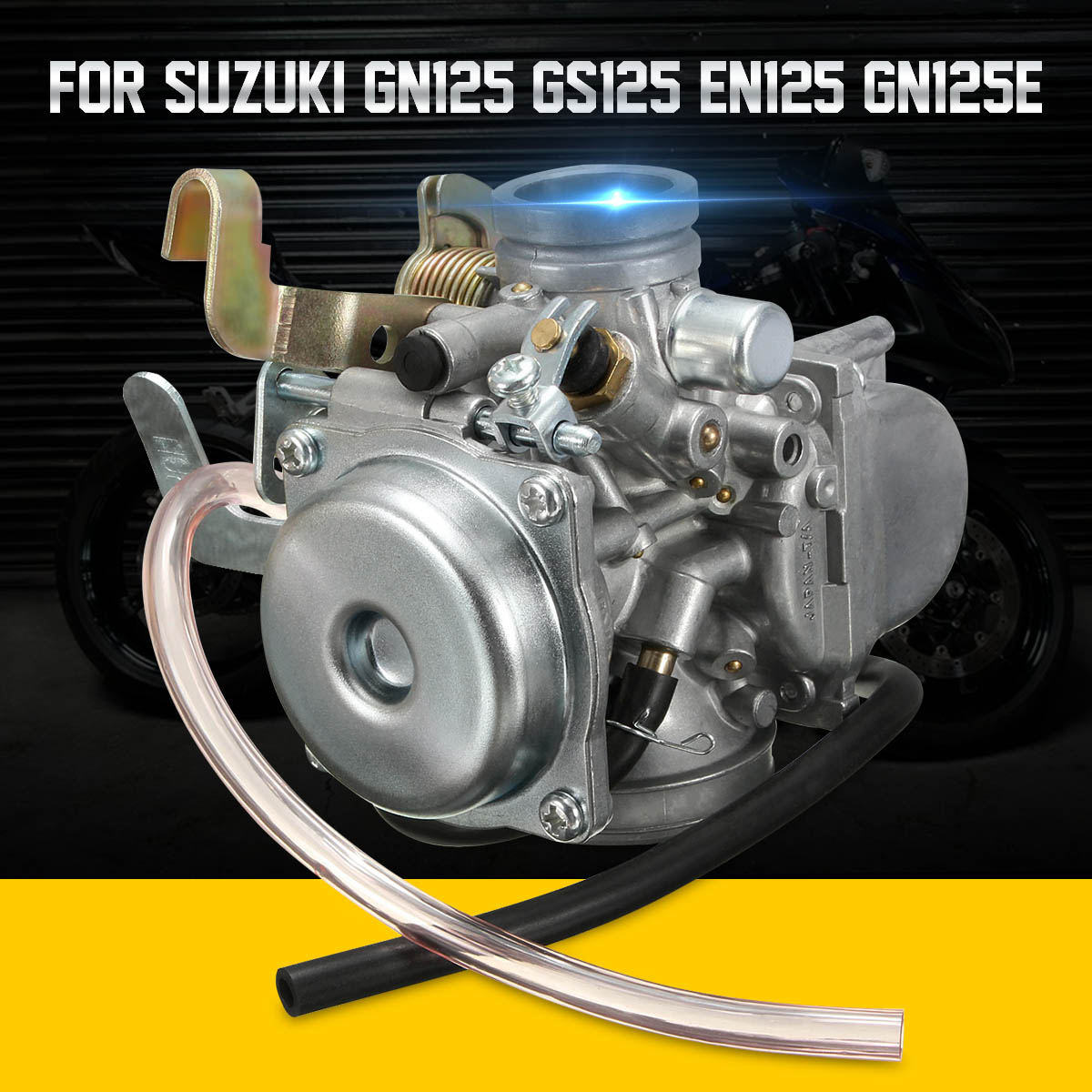 Motorcycle Carburettor Carburetor Carb For Suzuki GN125 1994 - 2001 GS125 EN125 GN125E 26mm Motorbike Part image