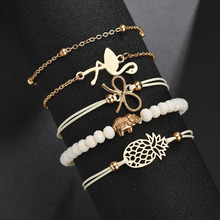 CHENFAN fashion 5pcs Bracelet for women 2019 gold jewelry bangle bracelet  accessories bangles
