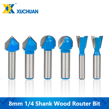 Carbide-End-Mill Router-Bits Shank-Corner Engraving-Drill Woodworking-Tool Rounding-Cutter