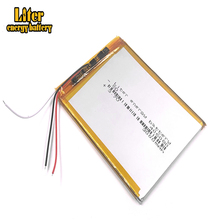 3 линии 406080 3,7 в 3000 мАч литий полимерный Батарея с защитой доска для VX787 VX530 VX540T VX585 396079,MP3,MP4, GPS,DVD,