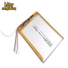 3 Lijn 406080 3.7V 3000Mah Lithium polymeer Batterij Met Bescherming Boord Voor VX787 VX530 VX540T VX585 396079,MP3,MP4, Gps, Dvd,
