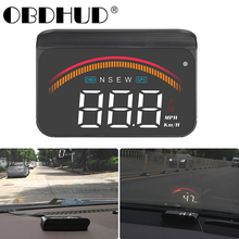 M11 hud obd head up display OBD2 + GPS Dual System Windshield Speed Projector Security Alarm Water temp Overspeed RPM Voltage