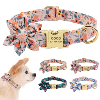 Dog Accessories Pet Puppy Cat Collar Custom Nylon Printed Dog Nameplate Collar Personalized Engraved ID Tag Collars Small Dogs custom dog collar personalzied nylon pet dog id tag collars engraved printed puppy collar leash for small medium large dogs