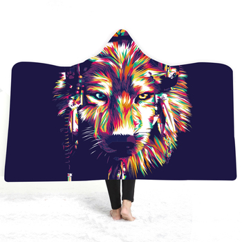Animal Series Hooded Blanket 1
