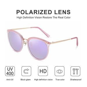 Image 4 - PARZIN Vintage Feminine Sun Glasses Polarized For Driving TR90 Oversized Sunglasses For Women Plastic Titanium