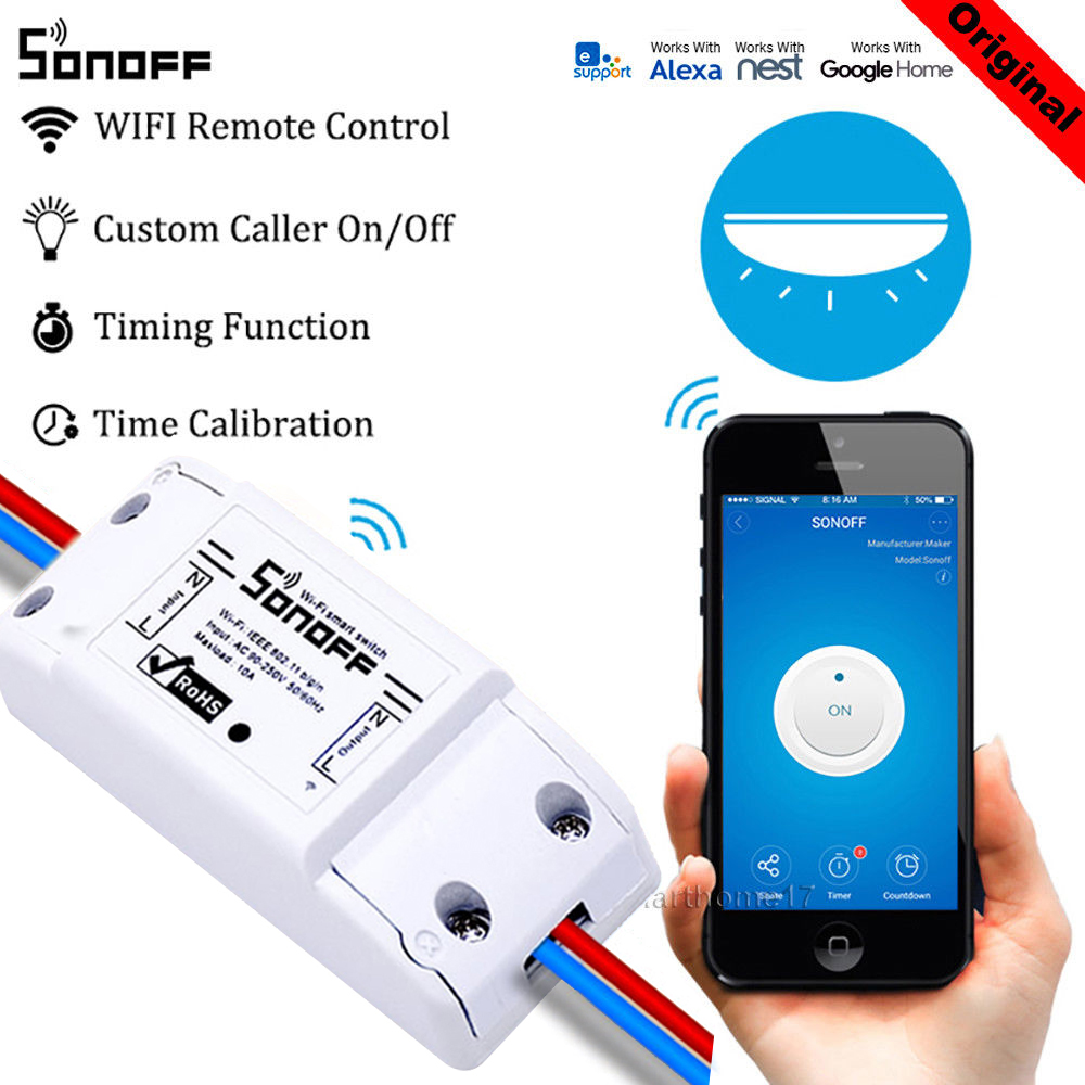 Sonoff ITEAD Basic Smart Home Automation Wifi Switch Control Smart Wireless Switch Wifi Switch Work With Google Home Alexa