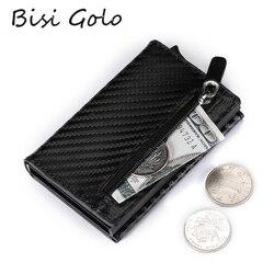 BISI GORO, кредитный держатель для карт, новинка 2020, алюминиевая коробка, кошелек для карт, RFID, из искусственной кожи, чехол для карт, магнит, карб...