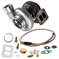 GT45 V BAND Turbocharger 1.05 A/R 78 TRIM 600+HPS Boost Turbo W/Oil Feed Line Oil Drain Kits Turbo Compressore T4 4 Bolt Flange