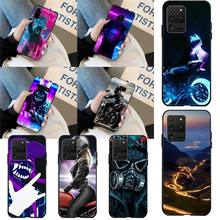HPCHCJHM Cool Street Sport Brand Boy Girls Black Soft Phone Case Capa for Samsung S20 plus Ultra S6 S7 edge S8 S9 plus S10 5G