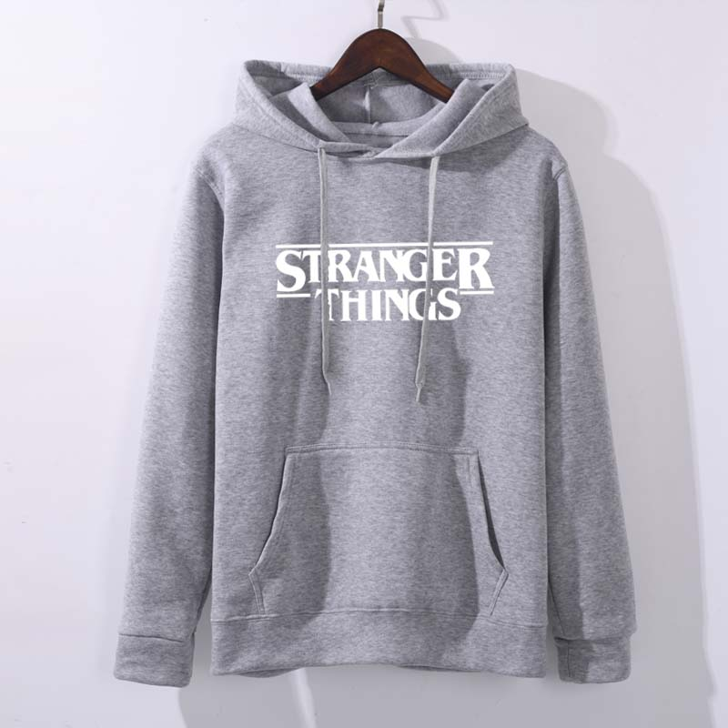 2019 Trendy Faces Stranger Things Hooded Women Hoodies And Sweatshirts Oversized For Autumn With Hip Hop Winter Hoodies Women