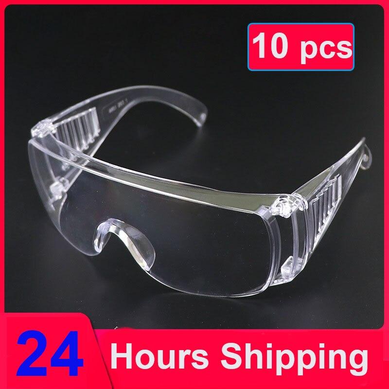 Gafas de seguridad de 10 uds, anteojos protección para la vista con ventilación, antipolvo antiniebla para laboratorio Industrial, venta al por mayor 9D para huawei P30 Lite P30Lite P 30 protector de pantalla de luz vidrio templado para huawei p20 lite pro p20lite p10 vidrio protector