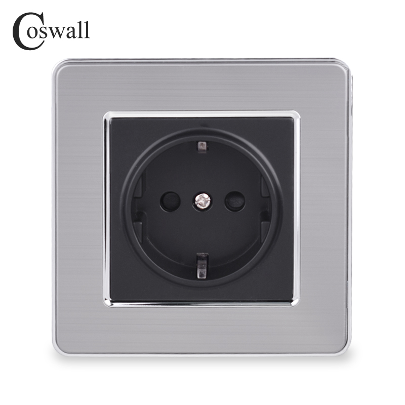 coswall-16a-eu-standard-wall-socket-luxury-power-outlet-stainless-steel-brushed-panel-grounded-with-children-protective-door